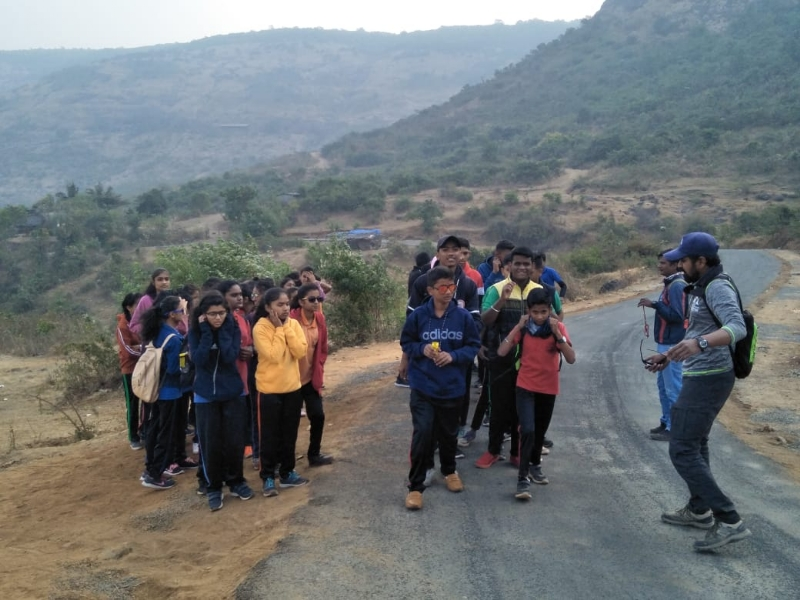 Trekking at shivneri_1&nb